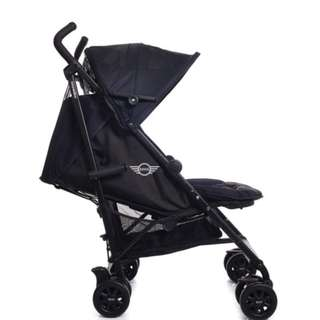 Easy Walker Mini Cooper Jet Black Stroller