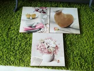 1set 3pcs Wall Photo