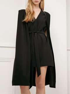 Cmeo collective 美國名牌 洋裝 披肩式 兩件連在一起的