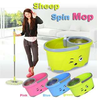 SHEEP SPIN MOP (stainless steel )  Rm38 Pos sem rm8  Pm Wasap 0176725125