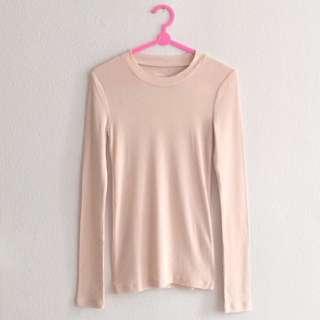 BNWT 8 seconds Wonder Essence Pink High Neck Long Sleeve Top Blouse Shirt