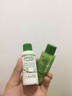 SIMPLE - moisturizer&toner for sensitive skin
