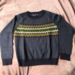 Princess Highway blue pattern knitted jumper size 8