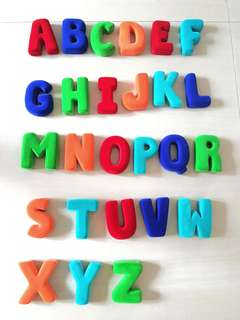 Colourful Alphabets A to Z in Velvet Finish