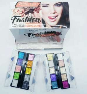 FASHION LOVES - SEVEN COLOR GLITTER EYESHADOW MAKE UP