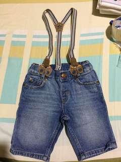 H&M adjustable or removable suspender shorts
