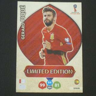 2018 World Cup Russia Panini Adrenalyn Limited Edition - Gerard PIQUE