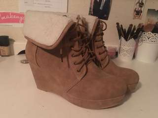 Just Fab Timberland Style Wedges