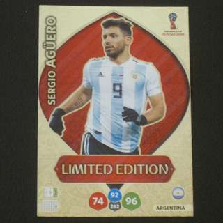 2018 World Cup Russia Panini Adrenalyn Limited Edition - Sergio AGUERO