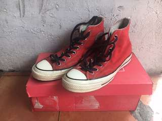 Original Converse 70s team red woll