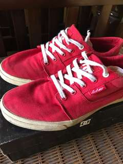 DC Shoes Canvass Red
