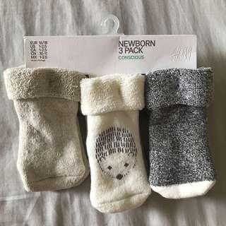 H&M baby socks 3 pairs
