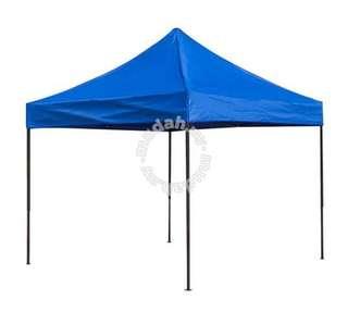 khemah warna biru   saiz : 8x8