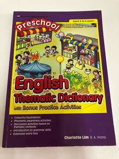 Preschool English thematic dictionary with bonus practice activities by educational publishing house (EPH)
