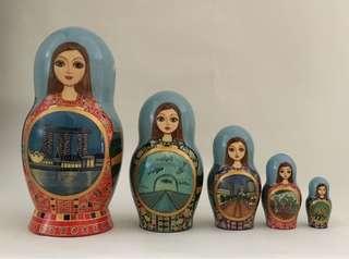 "Individual design Russian Doll ""Singapore"""