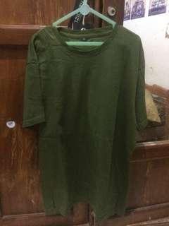 Baju polos hijau army