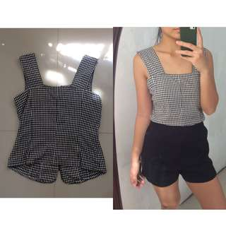 Gingham Chunky Strap Top
