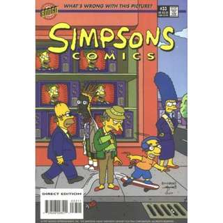 Simpsons Comics #33 (October 1997) -  Milhouse the Man, Krusty in the Can and the Great Springfield Frink Out!