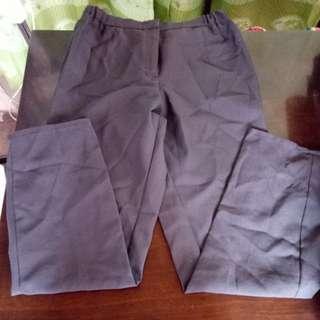 Faded black slacks