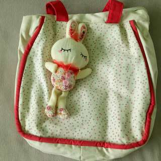[Door Delivery] Quality Rabbit Plush Totebag