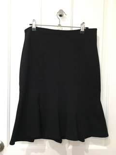 Black mermaid knee length skirt