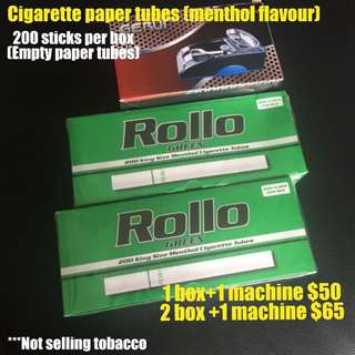 Smoking paper tubes / machine from $25