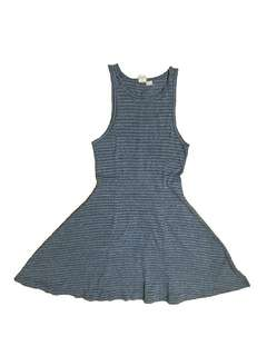 Authentic Roxy Blue Grey Striped Dress