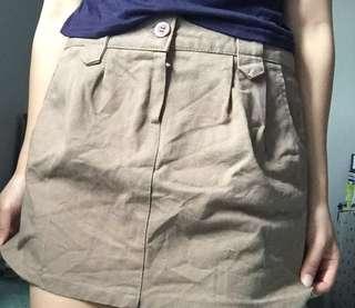 Brown mini-skirt