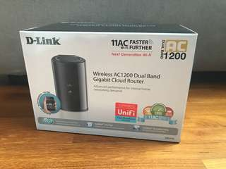 New D-Link AC1200 Dual Band  Cloud Router