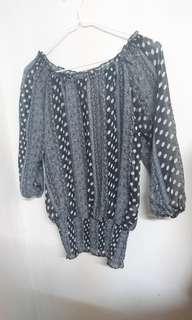 🚚 七分袖雪紡紗罩衫