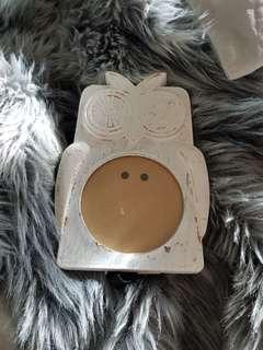 Owl wooden photo frame