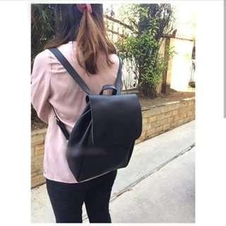 Japan Quality - Tas Ransel Kulit Serut Simple Miniso 2 warna Backpack