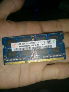 ram laptop ddr3 4gb pc12800s