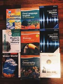 Various IGCSE Textbooks