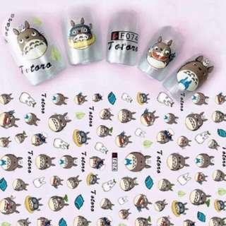 Nail sticker- Totoro 龙猫