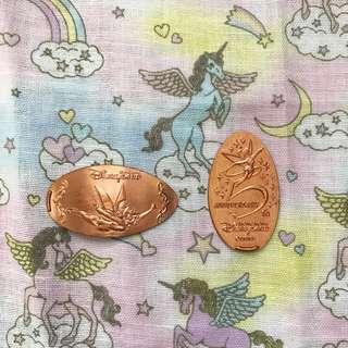 香港迪士尼 disney tinker bell 小仙子 銅幣
