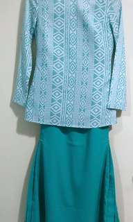 NH by Nurita Harith Christy Kurung in Turquoise
