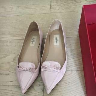 Valentino 粉紅色平底鞋