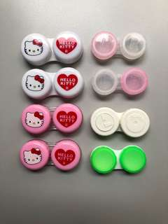 Hello kitty contact lense case bundle