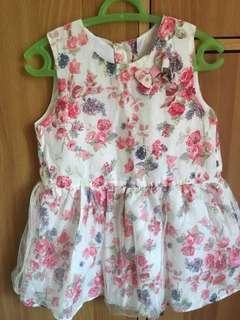 Peppermint floral dress 3t