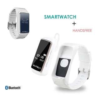 【智能手錶 + 藍牙耳機】二合一  聽音樂 接打電話 心率監測 運動計步 smart watch talk band music player heart rate