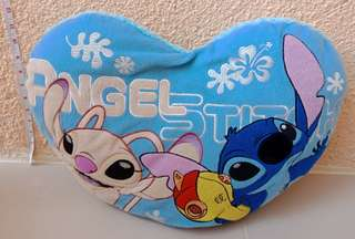 Stitch And Angel Heart Shape pillow
