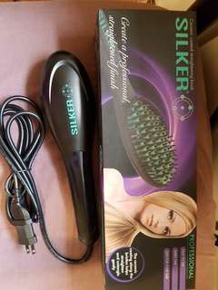 Silker Hair Straightening Brush (Silker Ceramic Coated Straightening Brush)