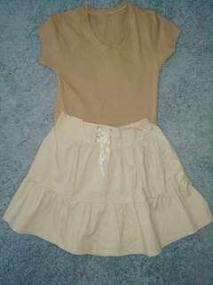 korean skirt (shirt included)