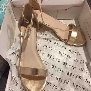 Rose gold Betts Sandles