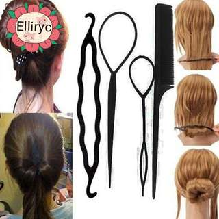 4 pcs Hair Bun Maker