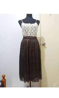 Zara Glitter Skirt Small