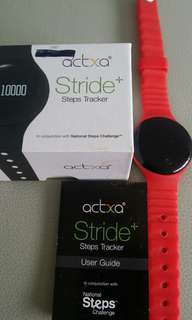 Preloved Actxa Stride+ Fitness Steps Tracker selling only sgd20!