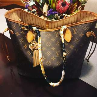 Louis Vuitton Neverfull MM with organiser