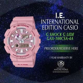 CASIO INTERNATIONAL EDITION G SHOCK G LIDE PINK GAX100CSA-2A